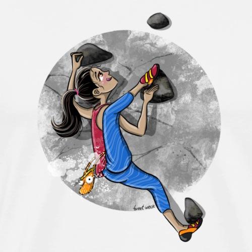 Flexibility-Rock Climbing - Men's Premium T-Shirt