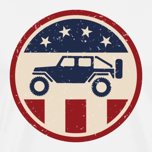 Patriotic Off Road 4wd Logo - Men's Premium T-Shirt