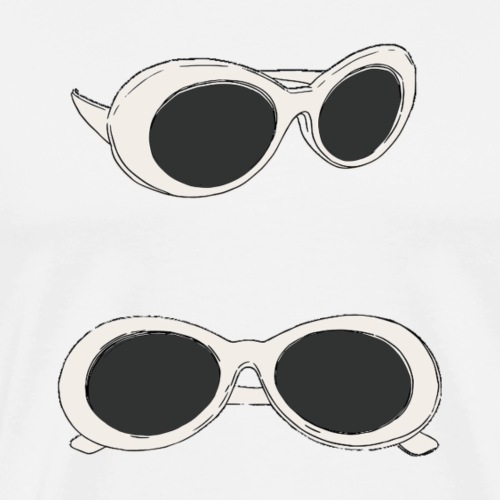 60s Retro Sunglasses | Mod - Men's Premium T-Shirt