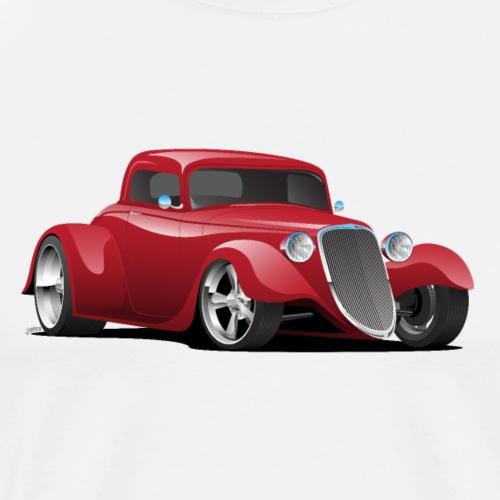 Custom American Red Hot Rod Car - Men's Premium T-Shirt