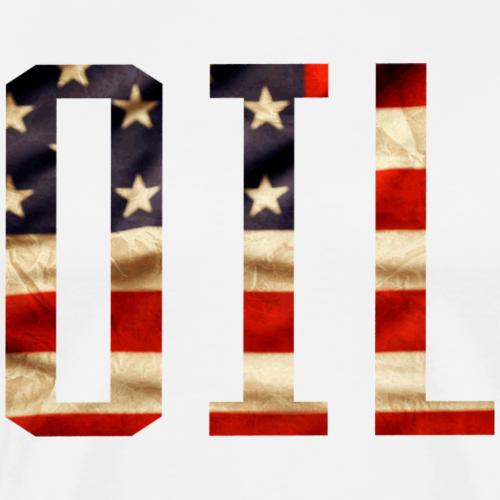 Patriotic Oil Design - Men's Premium T-Shirt