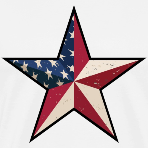 American Patriot Barn Star - Men's Premium T-Shirt