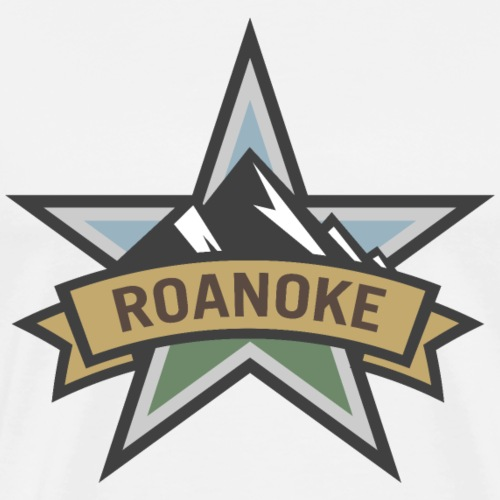 Roanoke Virginia Star City Pride Logo - Men's Premium T-Shirt