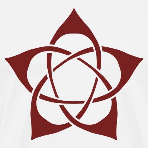 Floral-pent Flower Pentagram - Men's Premium T-Shirt