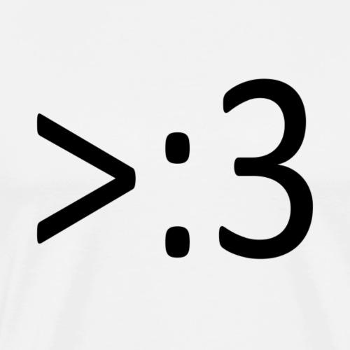 >:3 - Men's Premium T-Shirt