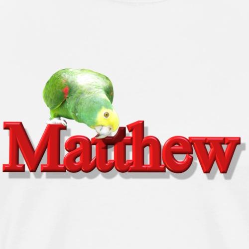 Matthew With a Parrot - Men's Premium T-Shirt
