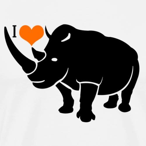 Rhino Love - Men's Premium T-Shirt