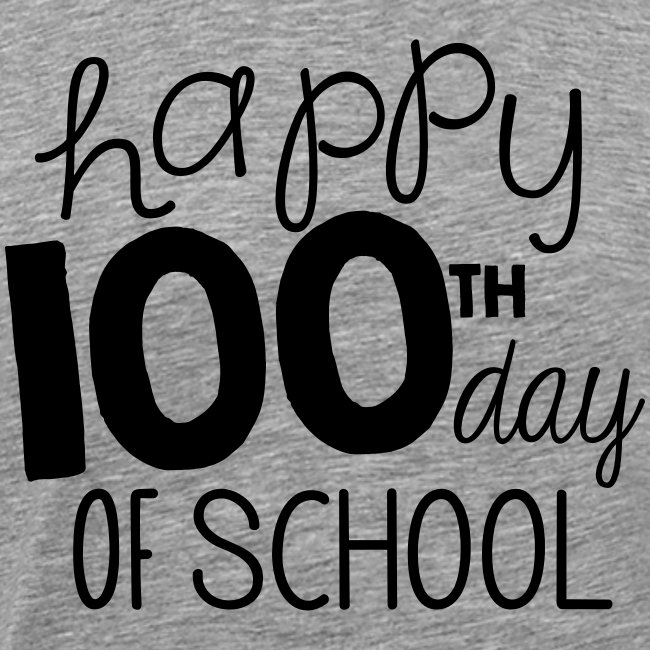 Happy 100th Day of School Chalk Teacher T-Shirt