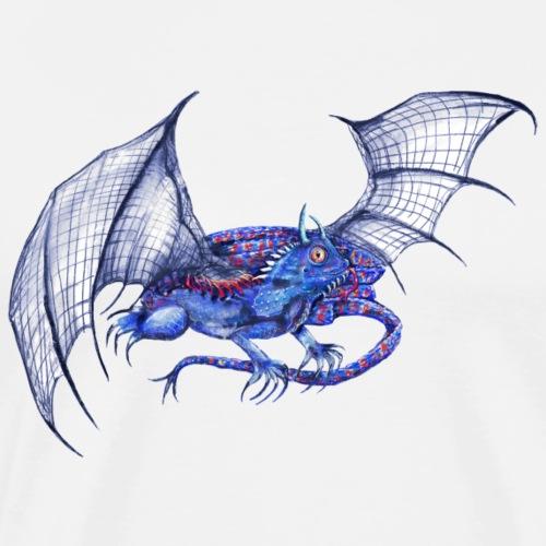 Long tail blue dragon - Men's Premium T-Shirt