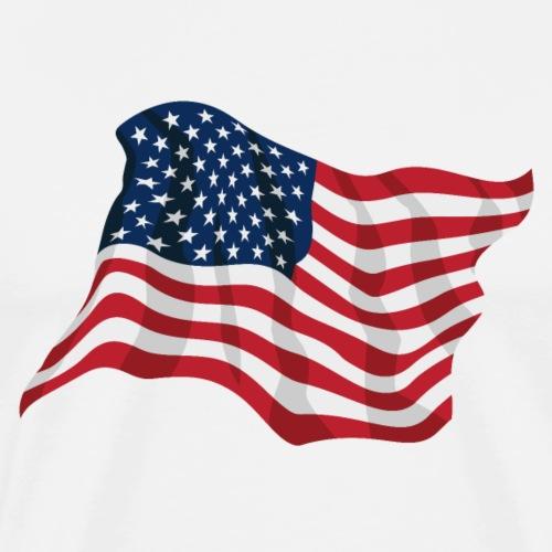American Pride USA Flag Waving - Men's Premium T-Shirt