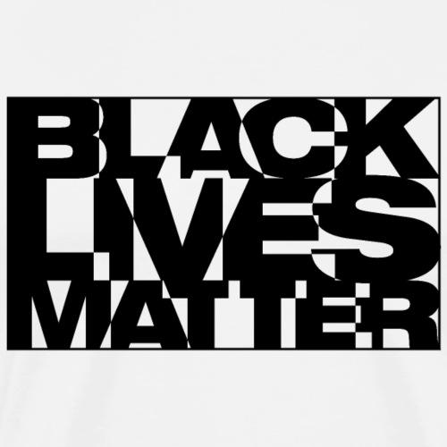 Black Live Matter Chaotic Typography - Men's Premium T-Shirt