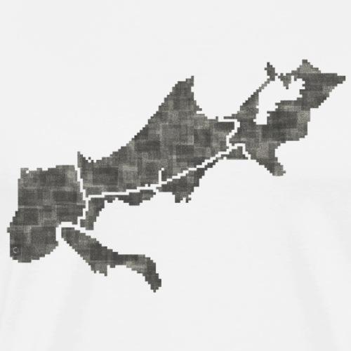 new orleans grid - Men's Premium T-Shirt