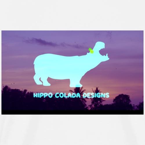 Hippo Colada Designs- Sunset Hippo - Men's Premium T-Shirt