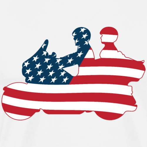 usa biker couple clr Tsmall - Men's Premium T-Shirt