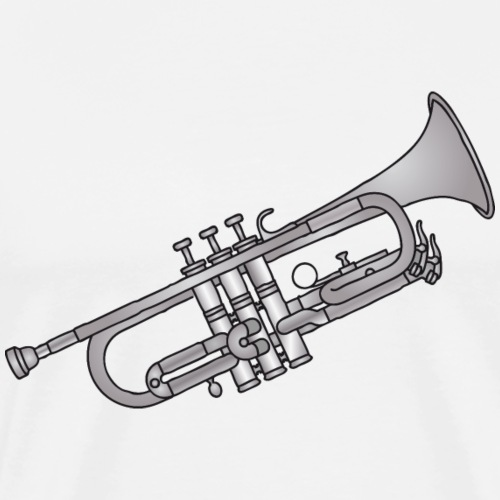 Trumpet brass instrument - Men's Premium T-Shirt