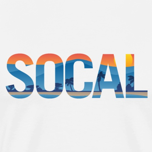 SOCAL Southern California Pride Illustration - Men's Premium T-Shirt