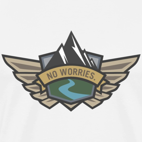 No Worries - Outdoor Adventure Logo - Men's Premium T-Shirt