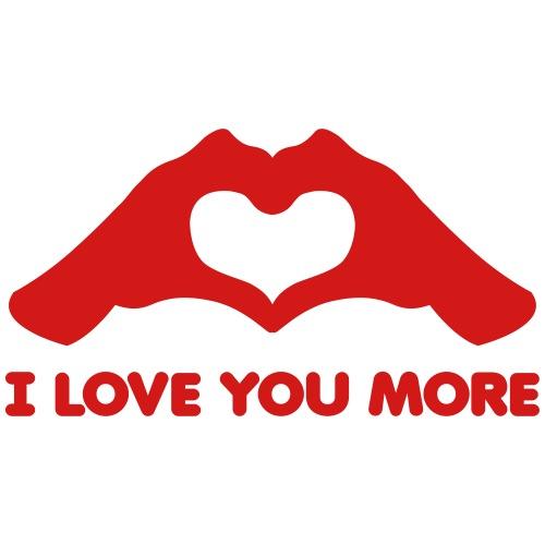 I Love You More Hands form Heart - Men's Premium T-Shirt