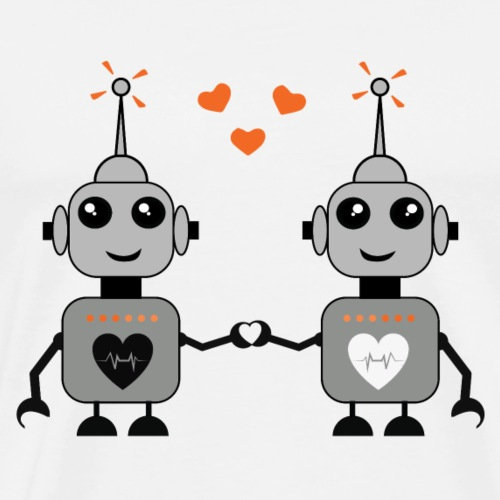 Robot Couple - Men's Premium T-Shirt