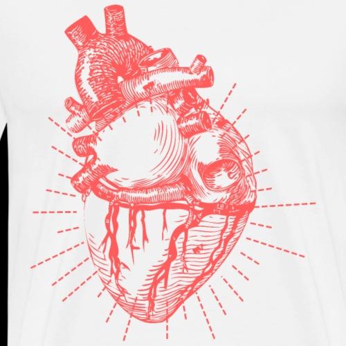 Hand Sketched Heart - Men's Premium T-Shirt