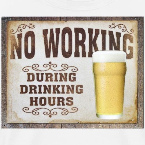 beer time drinking hour - Men's Premium T-Shirt