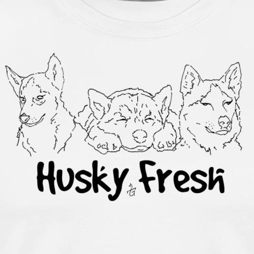 Dog Shirt   Husky Triple Fresh - Men's Premium T-Shirt