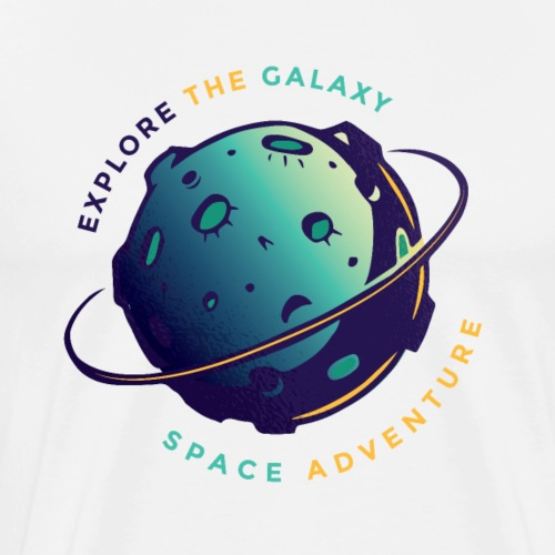 SPACE TSHIRT004 01 - Men's Premium T-Shirt