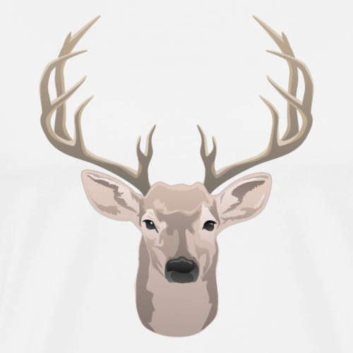 Beautiful buck with big antlers - Men's Premium T-Shirt