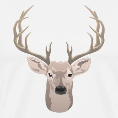 Beautiful buck with big antlers - Men's Premium T-Shirt