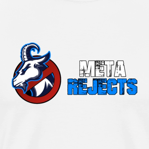 Meta Rejects Text Logo - Men's Premium T-Shirt