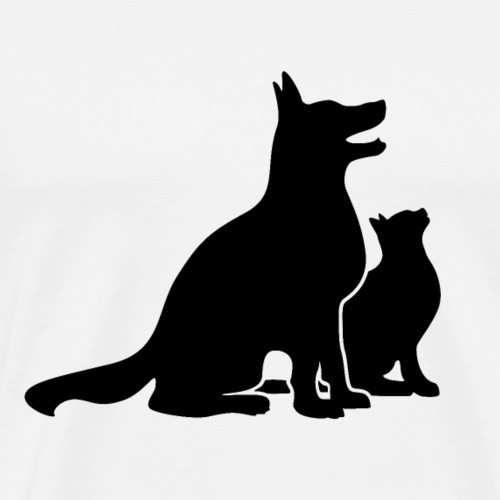 Dog and Cat Best Friends - Men's Premium T-Shirt