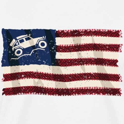 American Off Road 4x4 Overland Flag - Men's Premium T-Shirt