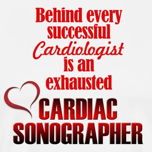 Exhausted Cardiac Sonographer - Men's Premium T-Shirt