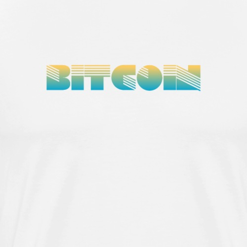 Bitcoin Art Deco Design - Men's Premium T-Shirt