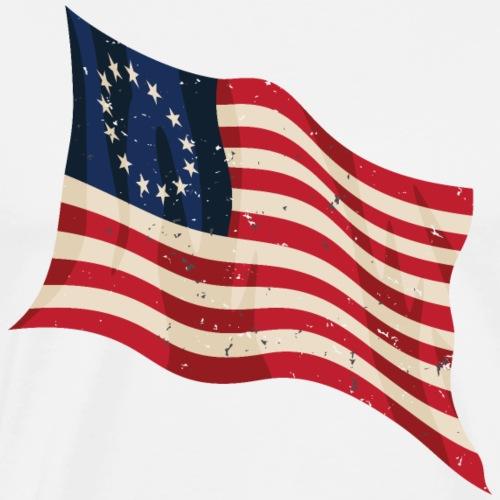 Waving Betsy Ross Flag - Men's Premium T-Shirt