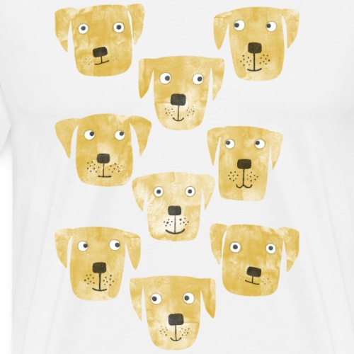 Golden Labrador Retriever Dogs - Men's Premium T-Shirt