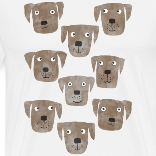 Chocolate Labrador Retriever Dogs - Men's Premium T-Shirt