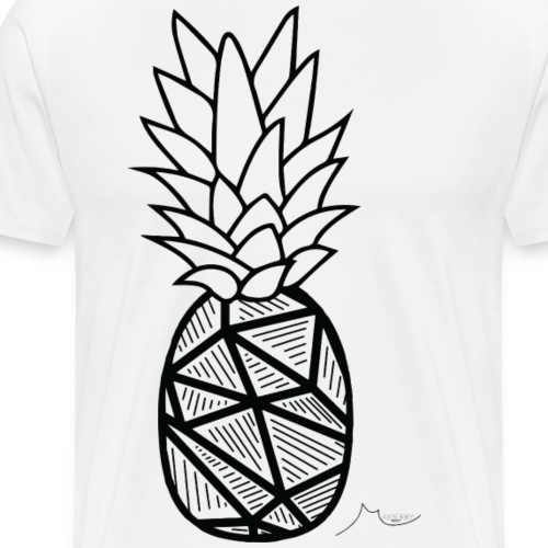 Geometry PineApple | Limited ♕ - Men's Premium T-Shirt