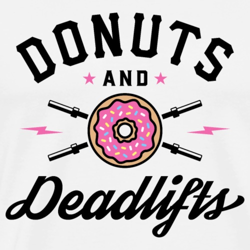 Donuts And Deadlifts v2 - Men's Premium T-Shirt