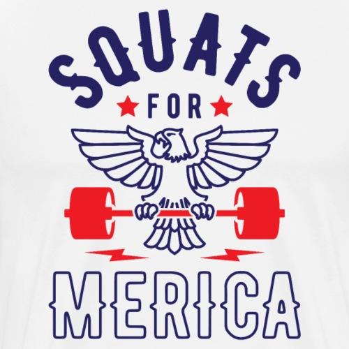 Squats For Merica v2 - Men's Premium T-Shirt