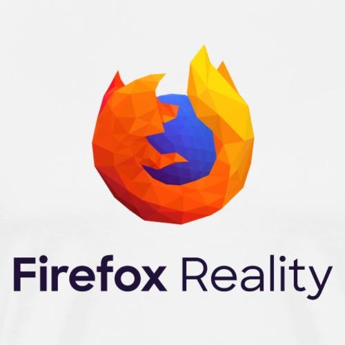 Firefox Reality - Transparent, Vertical, Dark Text - Men's Premium T-Shirt