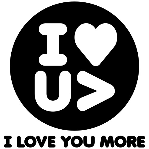 I Love You More Logo - Men's Premium T-Shirt