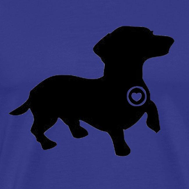 Dachshund love silhouette black