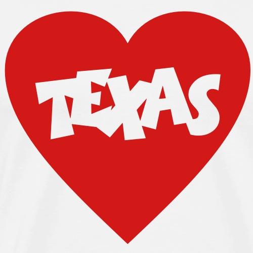 I Love Texas Heart - Men's Premium T-Shirt