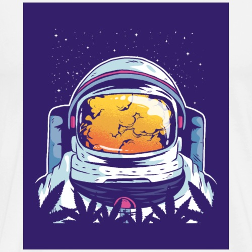 Astronaut smoke - Men's Premium T-Shirt