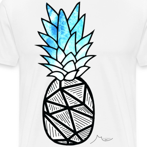 Blue Geometry PineApple | Collector ♛ - Men's Premium T-Shirt