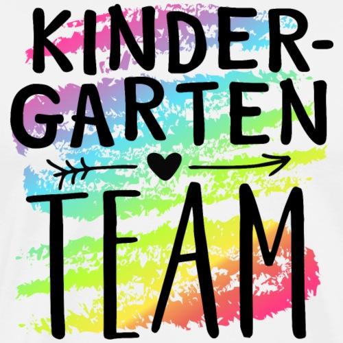 Kindergarten Team Crayon Splash Teacher T-Shirts - Men's Premium T-Shirt