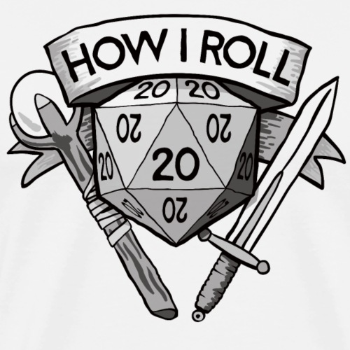 This Is How I Roll d20 - Men's Premium T-Shirt