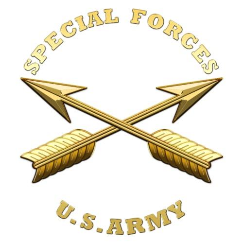 Army SF Branch Insignia - Men's Premium T-Shirt