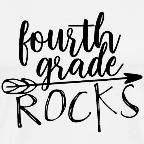 Fourth Grade Rocks Teacher T-Shirts - Men's Premium T-Shirt